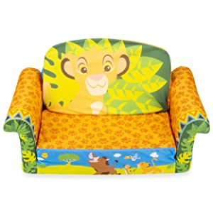 Marshmallow Furniture, Children's 2-in-1 Flip Open Foam Sofa, Disney's The Lion King, by Spin Master