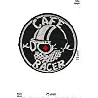 "Patches - Cafe Racers - Bikerpatch Cafe Racer - Iron on Patch - Applique embroidery Écusson brodé Costume Cadeau- Give Away"""