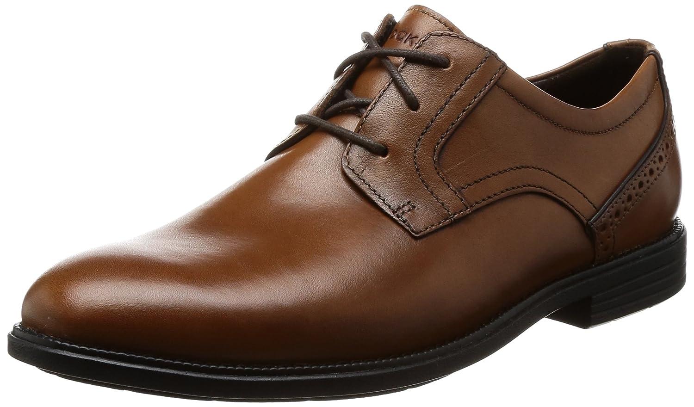 TALLA 42 EU Ancho. Rockport Madson Plain Toe, Zapatos de Cordones Derby para Hombre