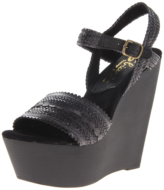 Sbicca Women's La Palma Wedge Sandal B00F0O02M2 10 B(M) US|Black