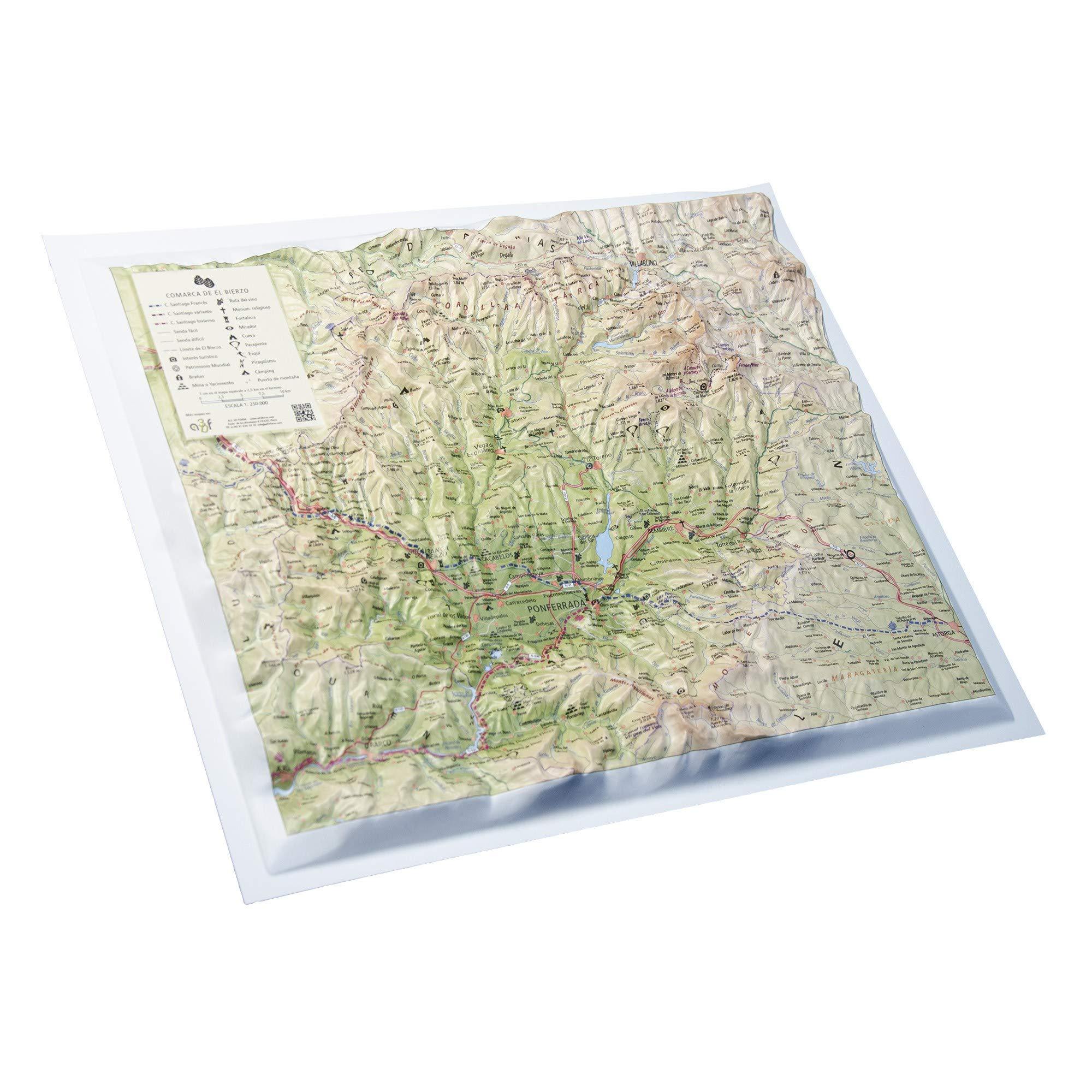 Mapa en relieve El Bierzo: Amazon.es: All 3D Form S. L.: Libros