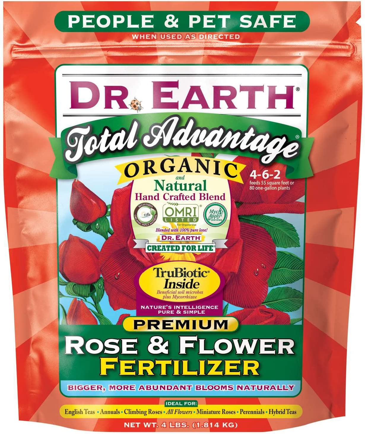 Dr. Earth Total Advantage Rose & Flower Fertilizer 4 lb