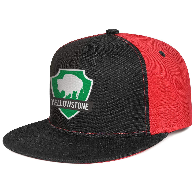 Yellowstone National Park Baseball Hats Mens Womens Adjustable Mesh Visor Flat Caps