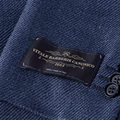 Canonico Wool Silk Linen Jacket BYJ-10: Navy