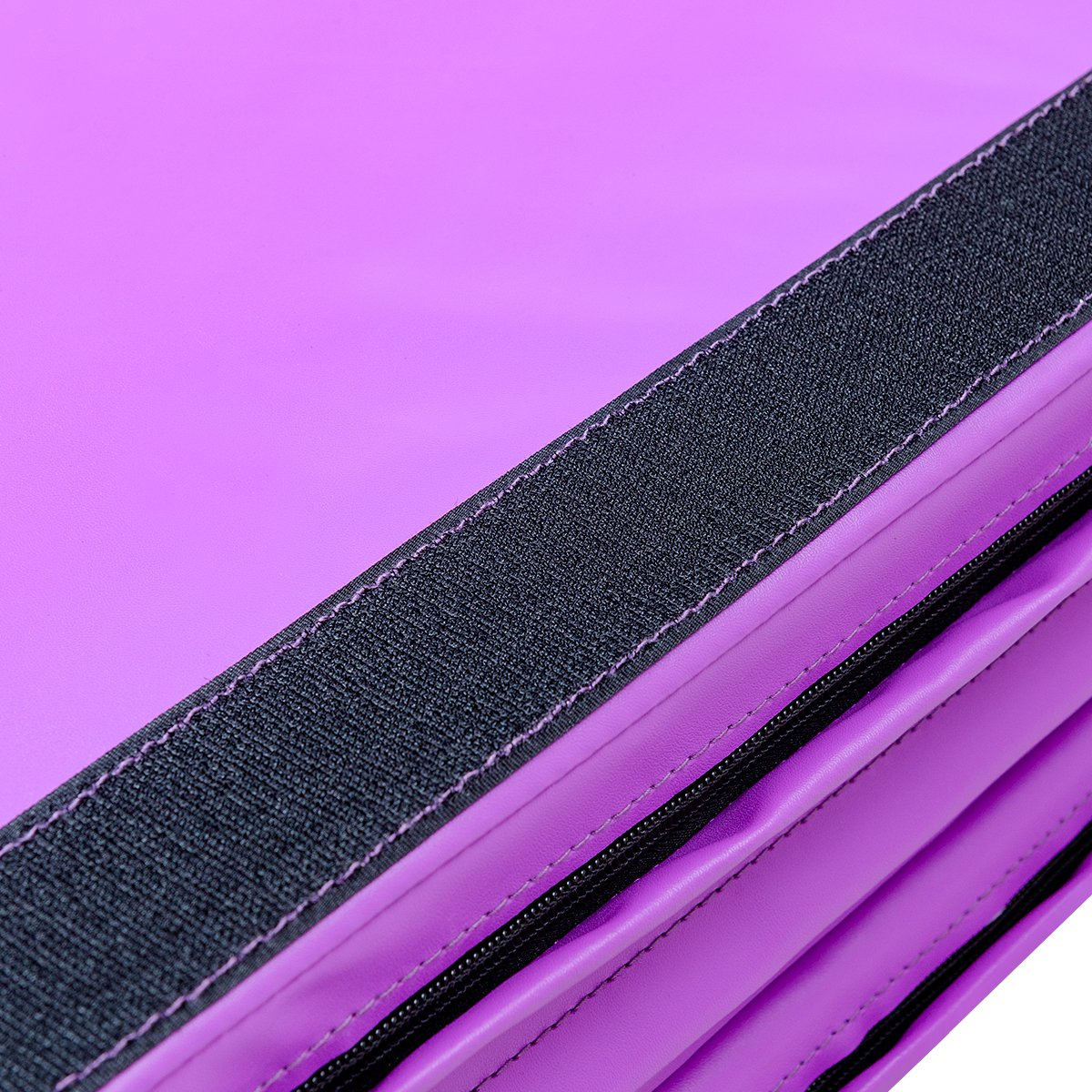 Giantex 4'x10'x2 Gymnastics Mat Thick Folding Panel for Gym Fitness with Hook & Loop Fasteners (Pink/Purple-Double Diamond)