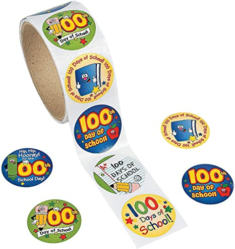 104 Badges Youngever 100 Days Smarter Badge Stickers