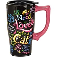 Spoontiques Cat Travel Mug, Multicolor
