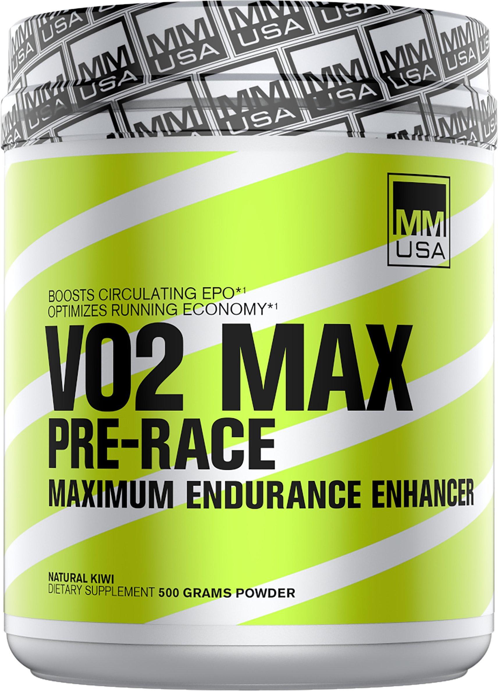 MMUSA VO2 MAX PRE-RACE MAXIMUM ENDURANCE ENHANCER, 500 Gram, Natural Kiwi
