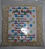 JellyBeadZ Brand Water Bead Gel - Clear -8 Ounce Almost 15,000 Heat Sealed Bag- Water Pearls Gel Beads- Wedding and Event Centerpieces