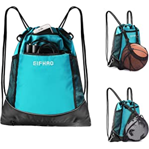 5976ef91f67e Elfhao Drawstring Backpack Bag Men   Women Sports Gym Sackpack Waterproof  Tote Bag Sports Sack Light