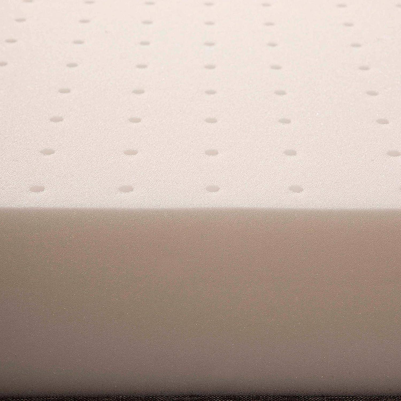 mit Bezug aus Naturbaumwolle abnehmbarer Bezug aus antiallergischer Baumwolle Evergreenweb Matratze f/ür Kinder oder Babys maschinenwaschbar 60 x 120 cm Rosa
