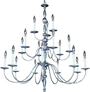 "product image for Framburg 7918 SP 18-Light Jamestown Foyer Chandelier, 117"" x 42"" x 45"", Satin Pewter"