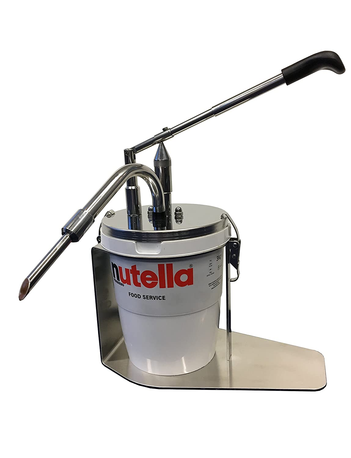 Amazon.com: Nutella compatible dispenser by ChocoPump - mess free dispenser for Nutella foodservice 3kg tub: Kitchen & Dining