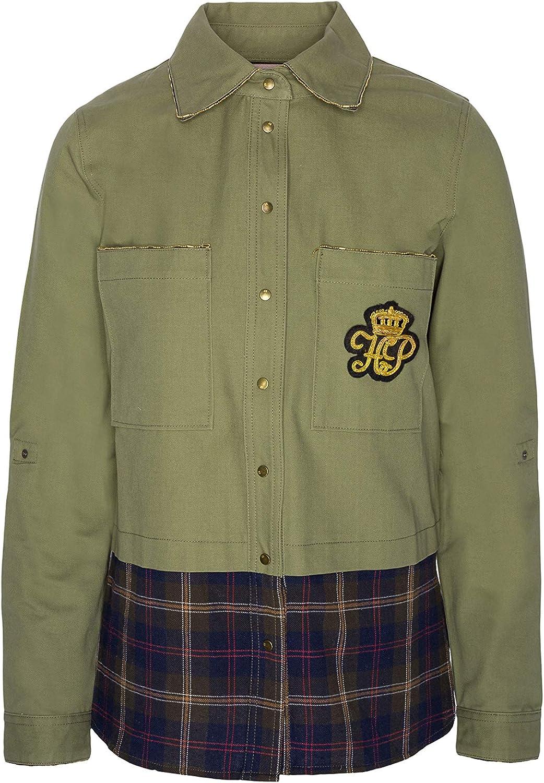 Highly Preppy Camisa Verde Kaki con Parte Inferior con Print de Cuadros para Mujer - Talla S: Amazon.es: Ropa y accesorios