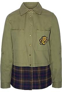Highly Preppy Camisa Militar combinada con Cuadros para Mujer