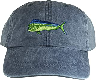product image for Maine Made Belted Cow DolphinFish Design Washed Navy Baseball Hat for Men and Women