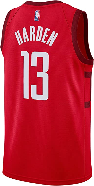 LSHUAIDJ Mens Jersey-Rockets 13# James Harden Jersey Sportswear Unisex Sleeveless T-Shirt Cool Breathable Fabric Basketball Jersey