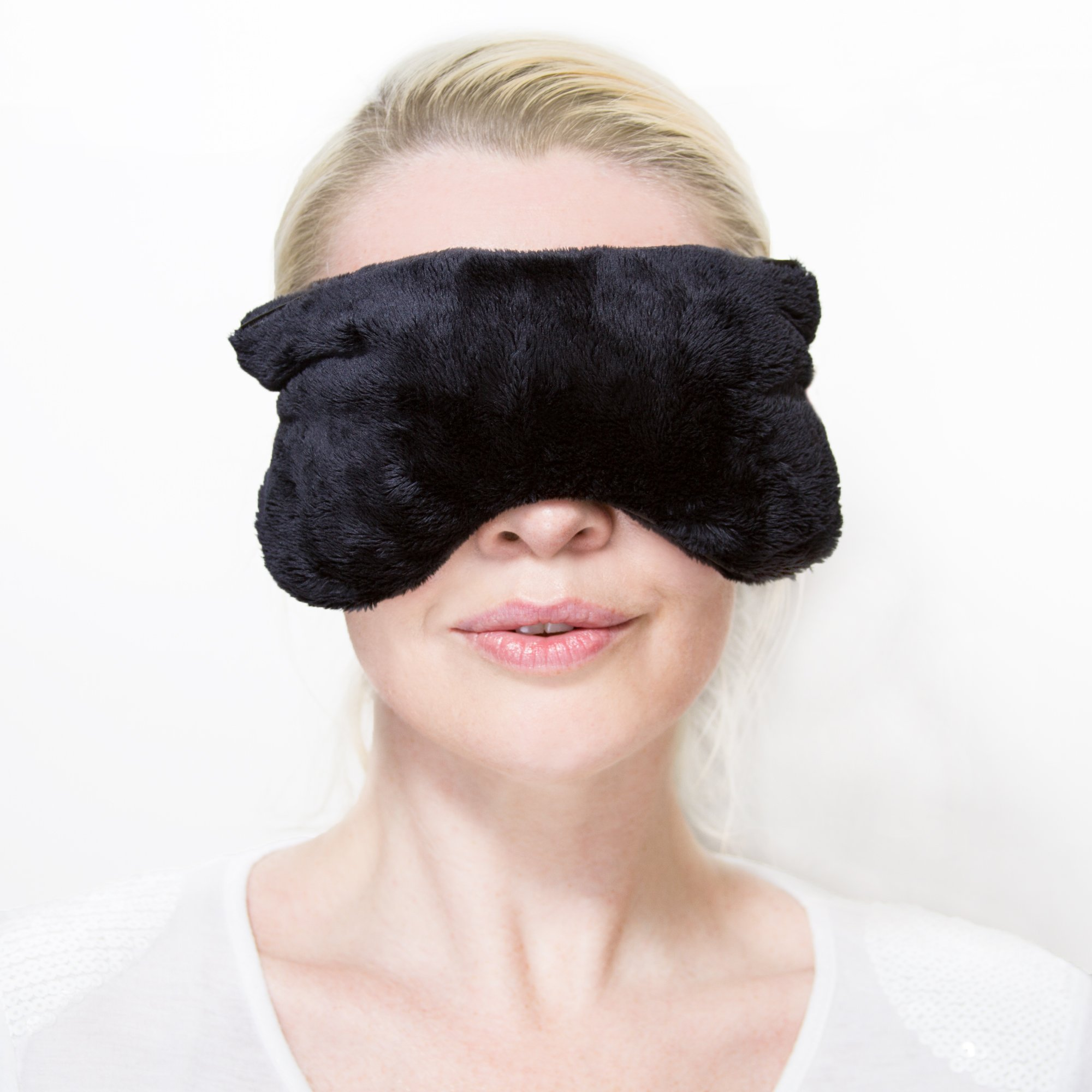 Aromatherapy Eye Pillow Mask Microwavable Heated: Perfect for Yoga and Relax, Helps Relief Headache, Sinus, Migraine, Dry Eyes, and Improves Sleeping Quality, While Using Hot, Warm or Cold – by ZORELL