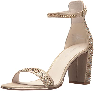 a3cd2571761 Kenneth Cole New York Women s Lex Shine Glitzy Block Heeled Sandal Ankle  Strap