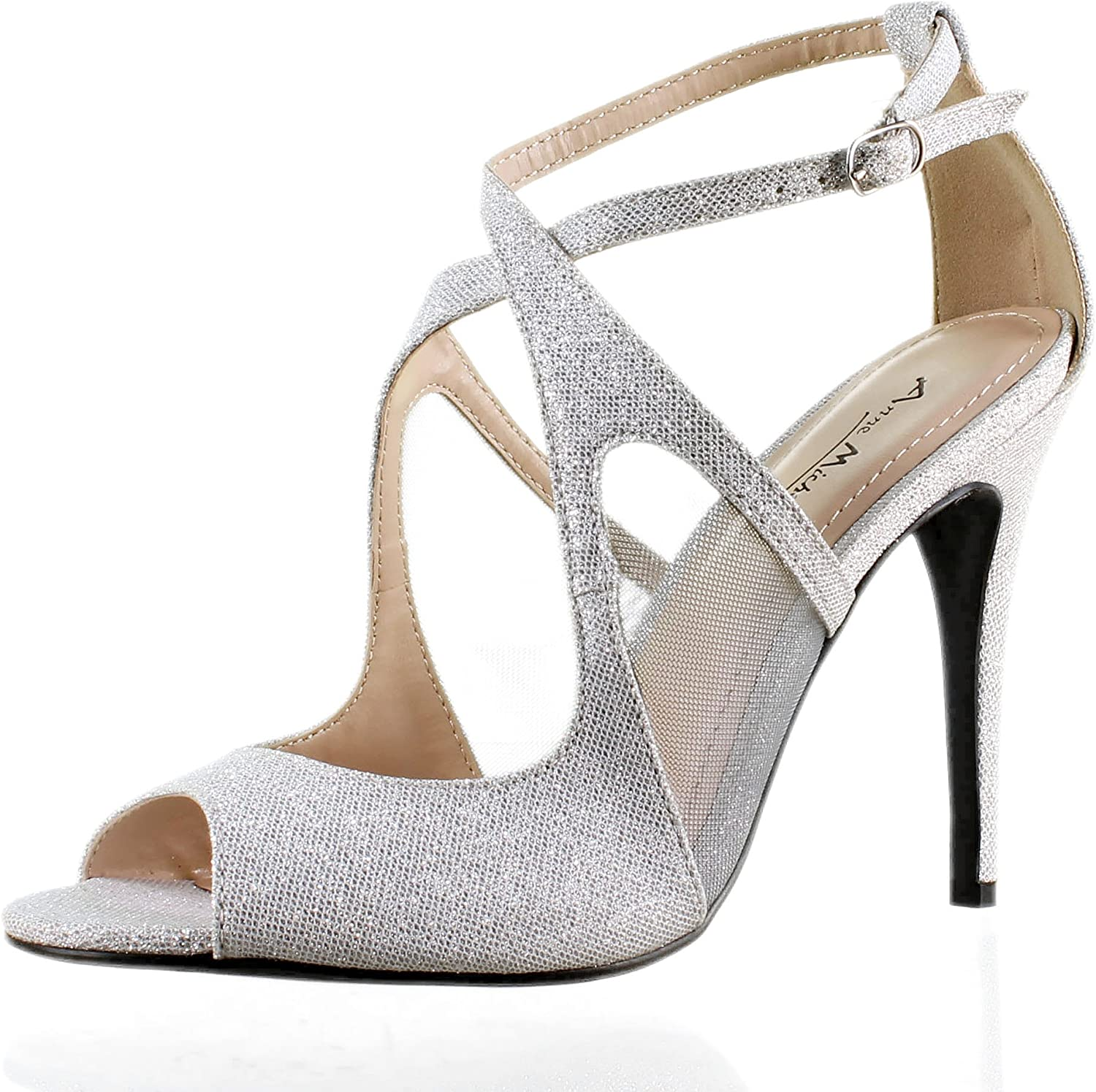 Hot Womens Party Shoes Shiny Synthetic Leather High Heels Strappy Pumps All Size