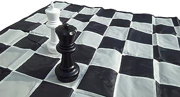SchachQueen – E333 – Tablero de ajedrez Gigante Casillas 17cm Negro/Blanco: Amazon.es: Juguetes y juegos