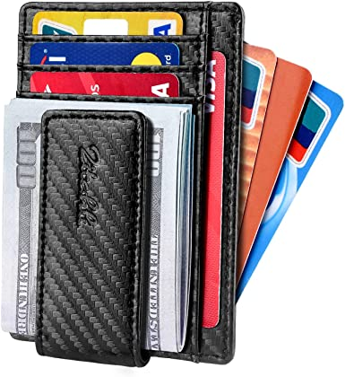 Money Clip Wallet For Men,Front Pocket Card Holder Slim Wallet With Strong Magnetic,RFID Blocking/&Anti-magnetic