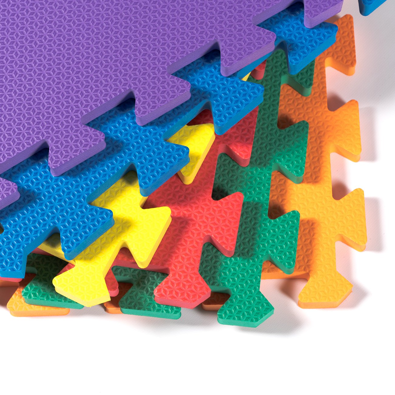 "Kidzone 12""x12"" 36 Piece Kids Baby Play Mat Foam Puzzle Play Mat EVA Non-Toxic, 6 Colors 1/2"" Thick"