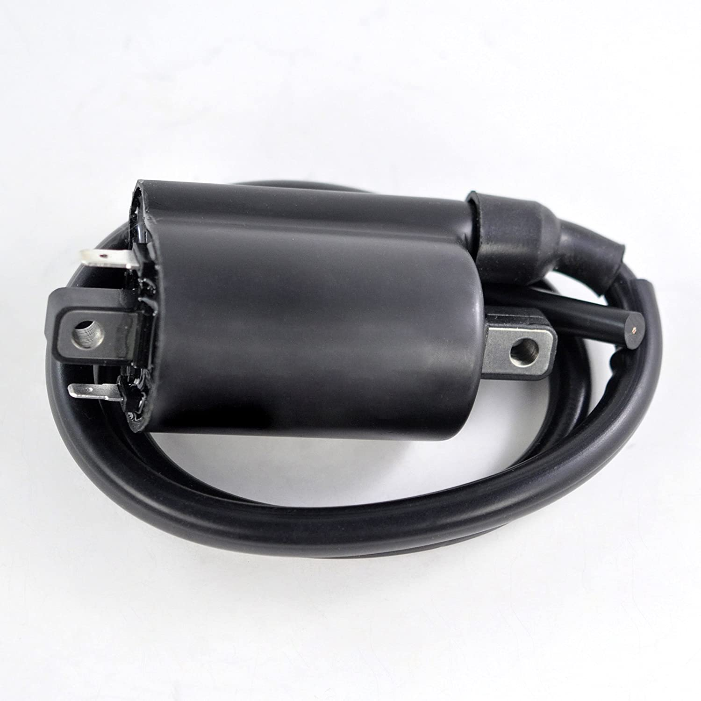 External Ignition Coil For Kawasaki KLR650 / KAF 620 Mule 3000 3010 3020 4000 4010 // Suzuki Boulevard S50 M109R VZR1800 / VS 800 GL Intruder 2001-2018 OEM Repl.# 33410-38A20 21121-2092 21121-0029 RMSTATOR