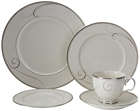 Noritake Platinum Wave 5-Piece Place Setting