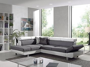 7261874e830 Bestmobilier - Lisbona - Canapé d angle Gauche Convertible - L 252 x P 190cm