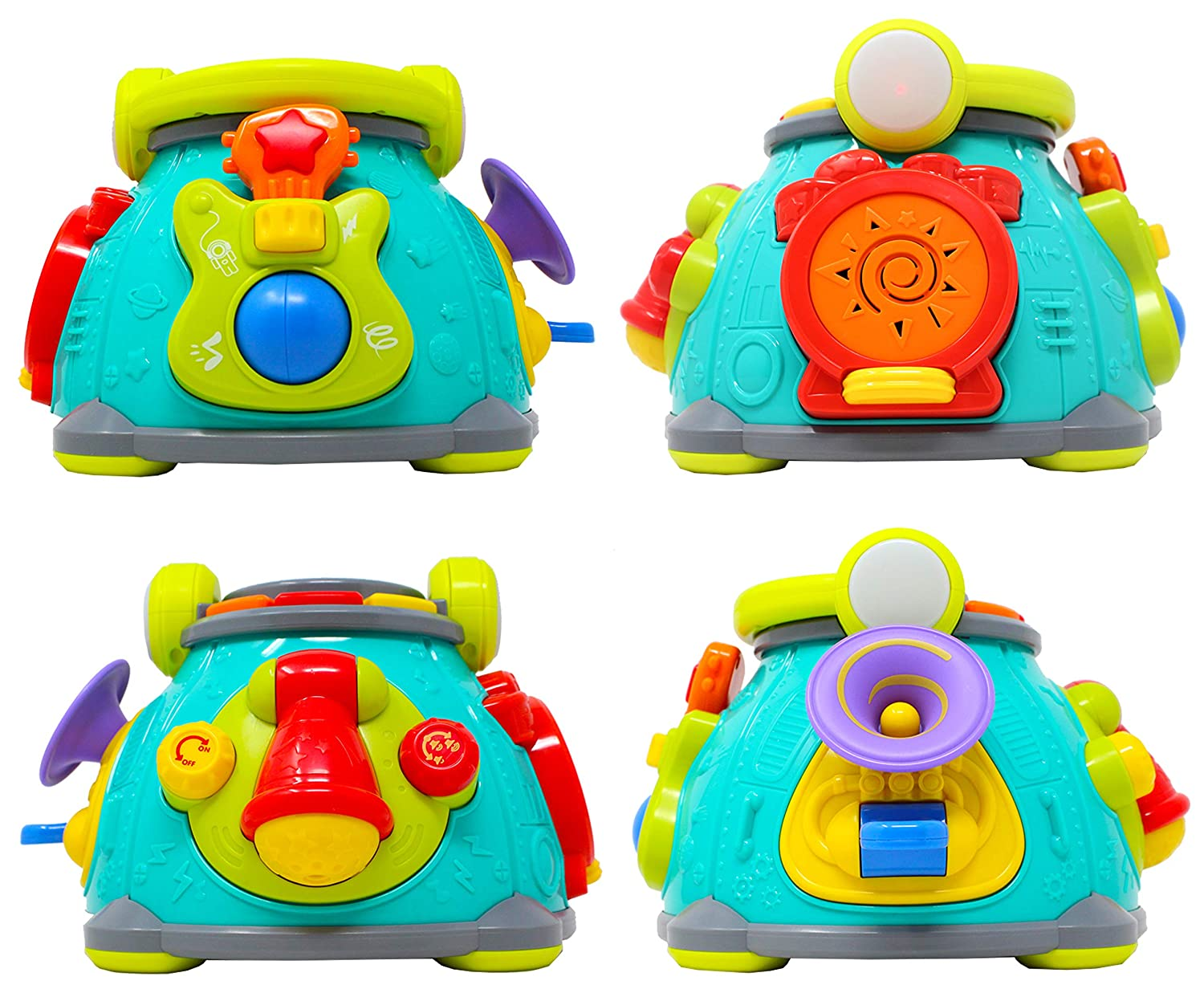 Joyin Inc JOYIN Musical Activity Cube Play Center Baby Toy with LED Light Up for Infants Toddler Interactive Learning Development Rhythm Gifts and Children Holiday Toy Gift Singing Sensory