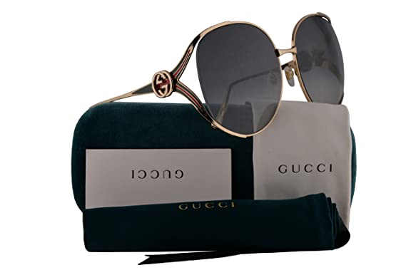 72ce2b5e0a9 Gucci GG0225S Sunglasses Gold w Grey Gradient Lens 63mm 001 GG0225 S GG  0225 S GG 0225S  Amazon.co.uk  Clothing