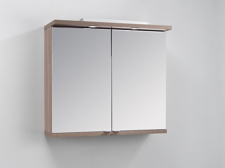 Cavadore Armario con Espejo, Madera, Eiche-Optik, 80 x 73 x 30 cm ...