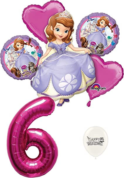 Amazon.com: 6th cumpleaños Sofia The First decoraciones de ...