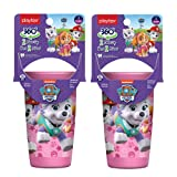 Playtex Sipsters Stage 2 360° Paw Patrol Spill-Proof, Leak-Proof, Break-ProofSpoutless Cup for Girls, 10 Ounce - Pack of 2