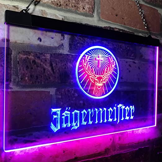 zusme Jagermeister Deer Drink Bar Novelty LED Neon Sign Red ...