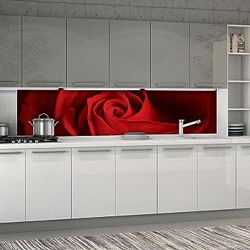 Forwall Fototapete Kuche Vlies Tapete Rose Wanddeko Vek 250cm X