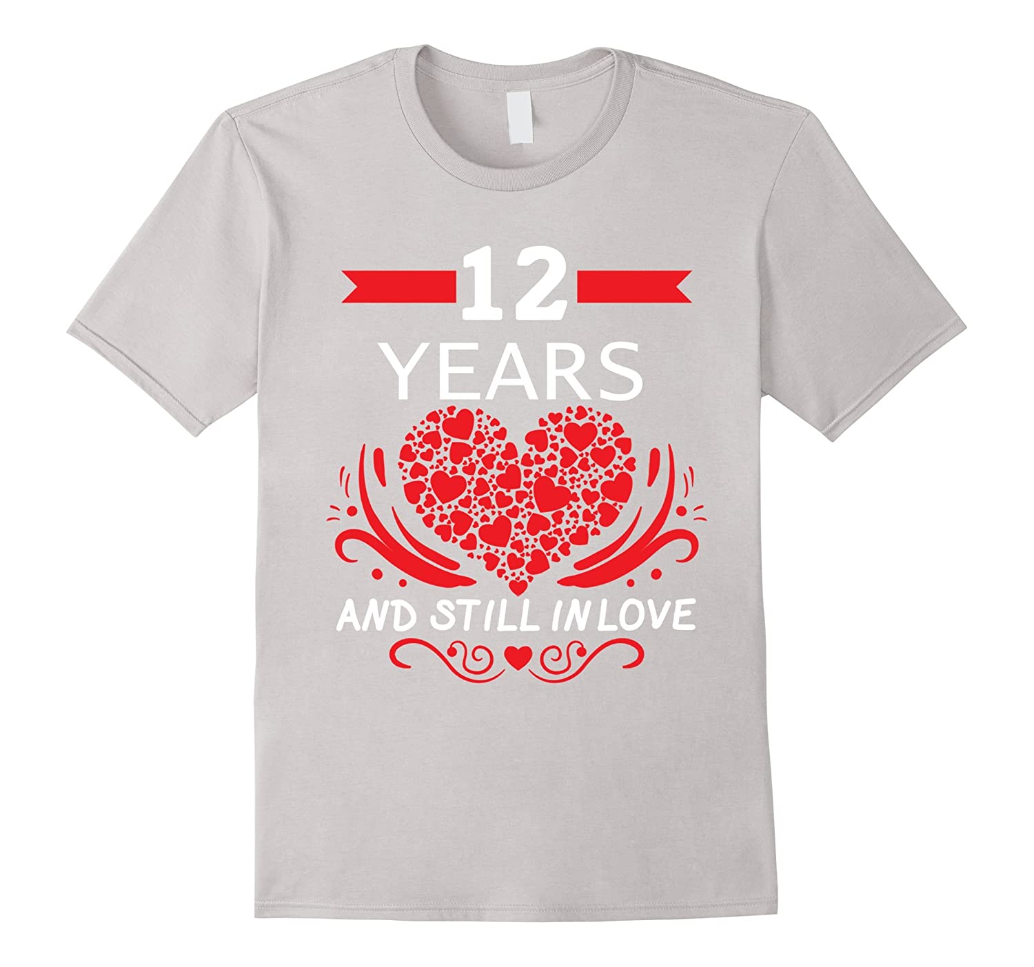 12th Wedding Anniversary Gifts 12 Year Shirt For Him And Her Bn