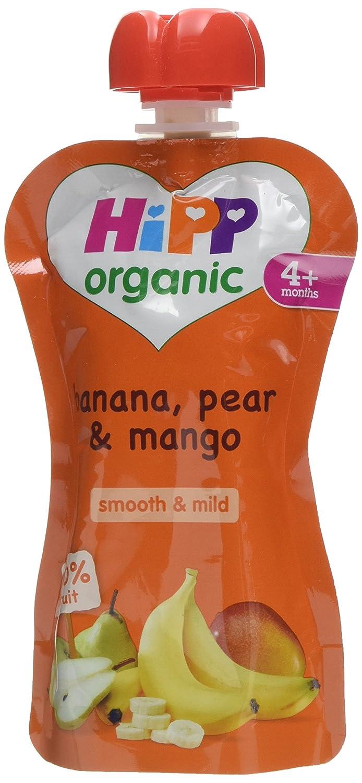 HiPP Organic Banana, Pear and Mango Fruit Puree 100 g (Pack of 5) GB8523.23-f
