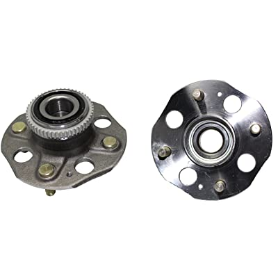 Detroit Axle - Rear Wheel Bearings and Hubs for 1994-1997 Honda Accord 4 Lug w/ABS (Pair) 512020 x2: Automotive