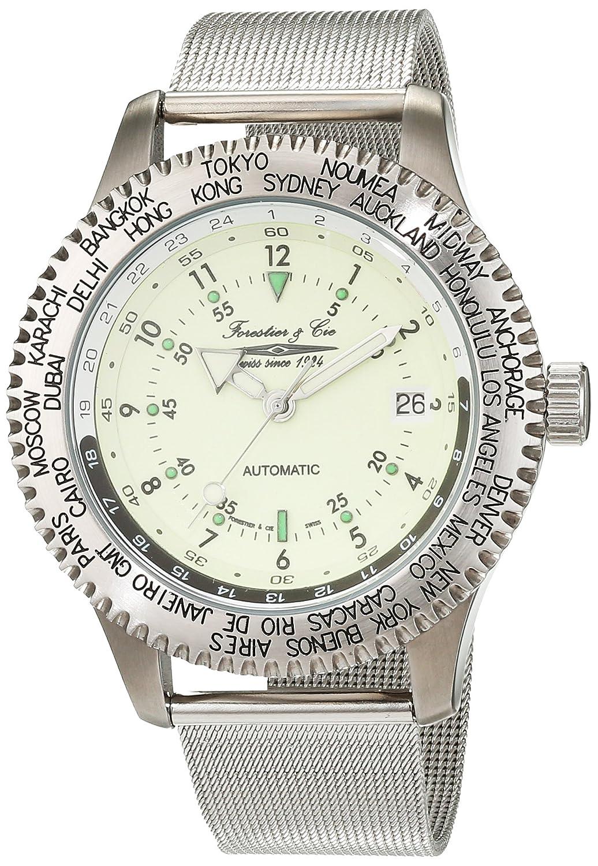 Forestier & Cie Herren-Armbanduhr Analog Handaufzug Edelstahl FC-T22456-140-HG