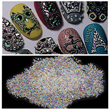 Amazon Nizi Jewelry Nail Art Diy 06mm Ab Crystal Glass Caviar