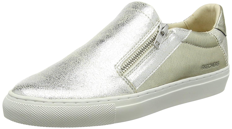 Skechers Vaso-Brillo, Zapatillas sin Cordones para Mujer 36.5 EU Dorado (Gold Gld)