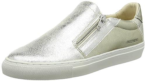 Skechers Vaso-Brillo, Zapatillas sin Cordones para Mujer: Amazon.es: Zapatos y complementos
