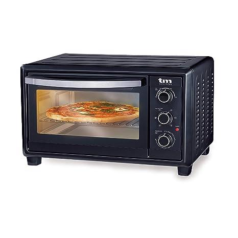 TM Electron TMPHO023 Horno de Convección de Sobremesa 23 litros, 1500W, 6 Modos de Cocina, Temperatura Ajustable hasta 230º, Especial para Pan, Pizza ...