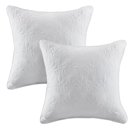 Amazon Madison Park Quebec Quilted Throw Pillow Transitional Awesome Decorative Quilted Pillows