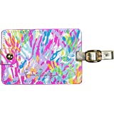 Lilly Pulitzer Women's Leatherette Luggage Tag, Sparkling Sands