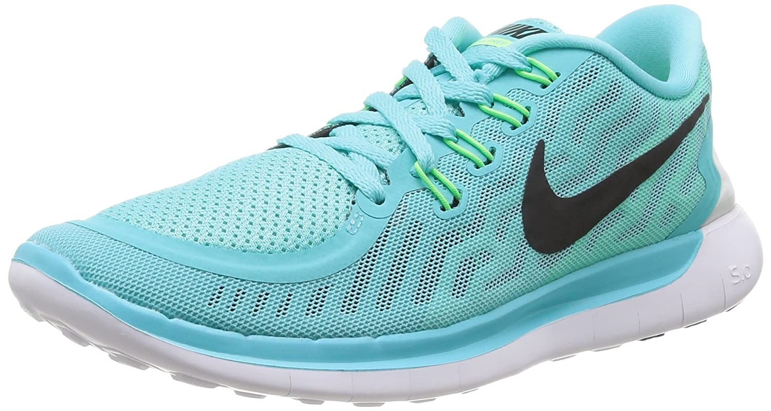 timeless design 5637b 7135e Nike Women s Free 5. 0 Light Aqua Blk Lt RTR GRN GLW Running Shoe 6. 5 Women  US  Amazon.in  Shoes   Handbags