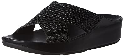 8b10a7812 FitFlop Womens Crystall Slide Sandal Shoes