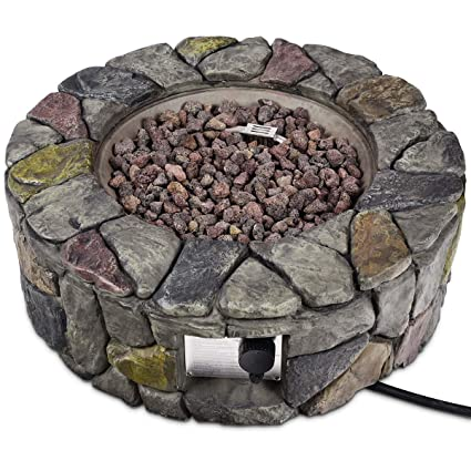 Image Unavailable - Amazon.com : Asher Amada 28'' Propane Gas Fire Pit Outdoor 40, 000